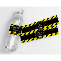 Construction Truck Personalized Birthday Water Bottle Labels  - $20.79