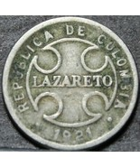 Colombia 2 Centavos, 1921 Lazareto Leprosy Colony Leprosarium~RARE 350k ... - $5.76