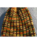 Hand knitted variegated autumn beanie/cap/hat - $10.00