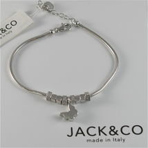 Silver 925 Bracelet Jack&co with Star Dog Butterfly Clover or Cat image 3