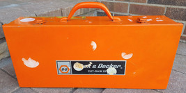 Vintage BLACK & DECKER HD 3102 CUT SAW KIT-B&D Orange Steel Box-Case Only - $46.74