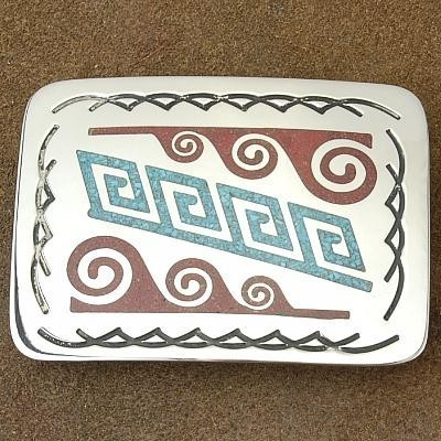 Grand Canyon Collection Silver Traditional Water Design Belt Buckle by Jackson
