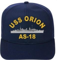 USS ORION AS-18 Ball Cap New Ship Hat Ship Cap
