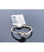 10K Yellow Gold Engagement ring 0.13ct white one large diamond bridal se... - $142.55