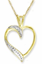 10K gold Diamond Pendant With Chain - $59.39