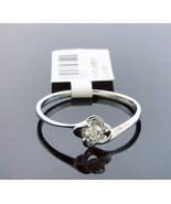 10K white Gold Engagement ring 0.13ct white one large diamond bridal set... - $177.62