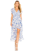 Nwt Anthropologie Vero Thesa Floral Wrap Maxi Dress By Misa Xs - $227.99