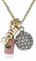 "Juicy Couture New Year's Charm Cluster Necklace, 19"" - $59.90"