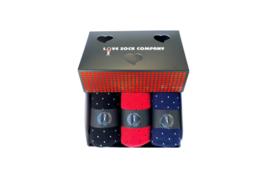Biz Dots Valentines Day Box Set - 3 Premium Organic Cotton Men's Socks - $30.00