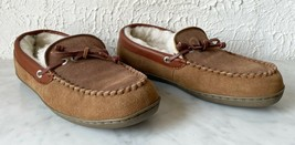 Nautica Slippers Shearling Suede Leather Slip On Moccasin Indoor/Outdoor... - $28.45