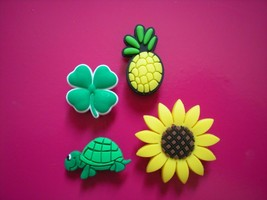 Clog Charm Shoe Plug Button For Accessories For Bracelet Turtle Sun Flower - $9.99