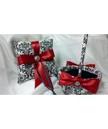 DAMASK BASKET or PILLOW,  Ringbearer Ring Pillow, Flower Girl Basket, Ma... - $26.95