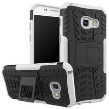Kickstand Protective Phone Cover Case For Samsung Galaxy A3 (2017) - White  - $4.99