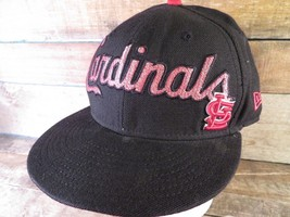 St Louis CARDINALS Baseball New Era Fitted Size 7 1/8 Adult Cap Hat - $12.86