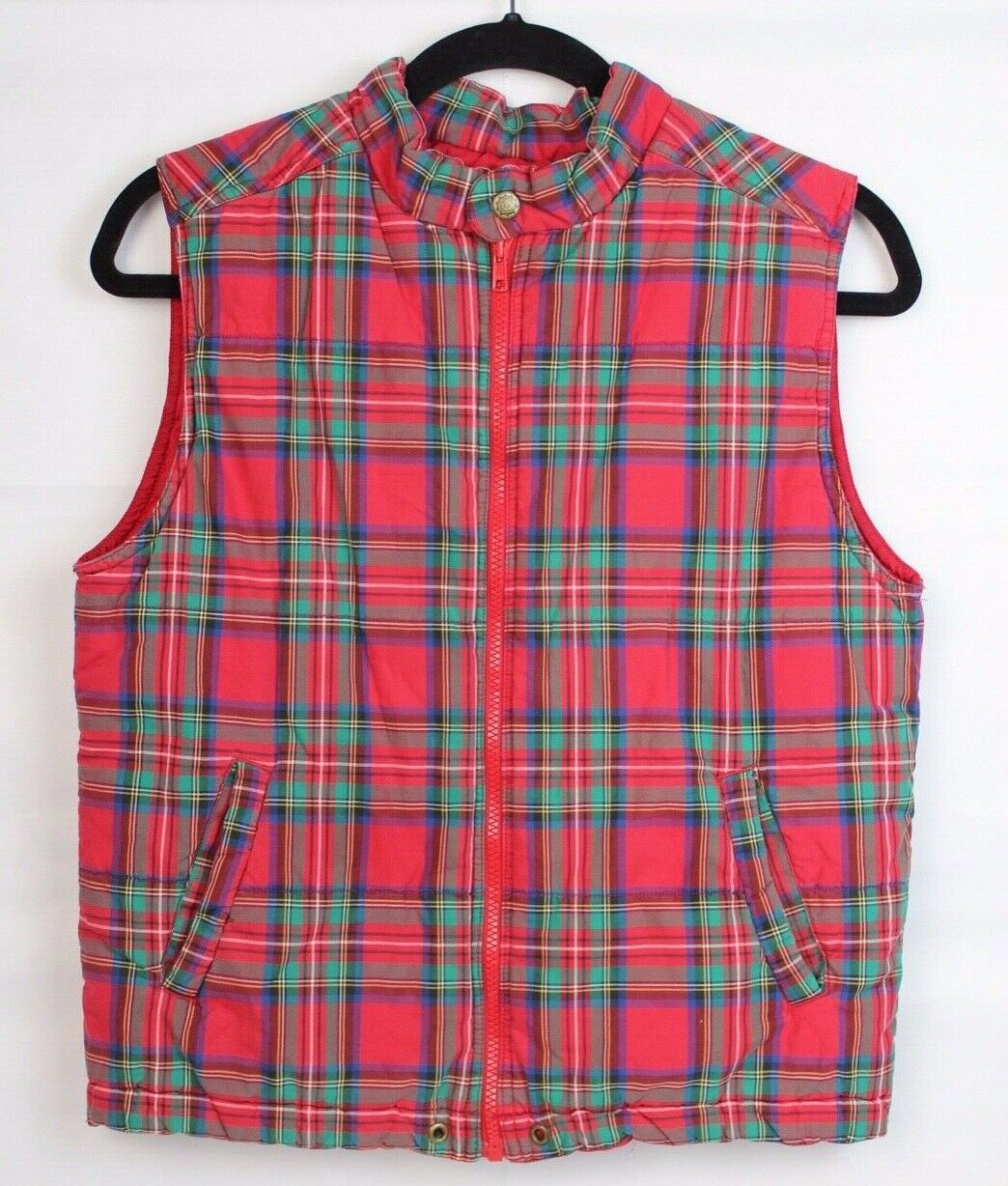 Primary image for Gap kids outdoor classic youth kids vest Alpine model plaid cotton size L