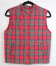Gap kids outdoor classic youth kids vest Alpine model plaid cotton size L - $15.38