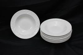 "Oneida Picnic Rim Soup Bowls 8.75"" Set of 8 - $58.31"