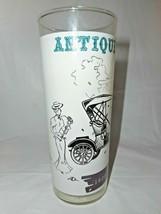 Antique Car Tumbler Anchor Hocking Drinking Glass 1908 Buick High Ball I... - $9.89
