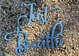 Just Breathe Metal Wall Art Accents Silver - $19.79