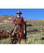 John Wayne in Chisum iconic pose on horseback by western town legend 16x... - $69.99