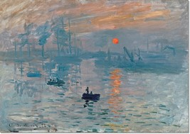 Stretched Canvas - Impression Sunrise Painting by Claude Monet Reproduction - $103.99+