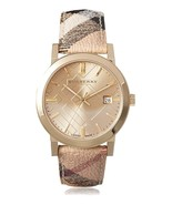 Burberry Womens Watch BU9026 The City Champagne Dial Haymarket Check Strap - $189.00
