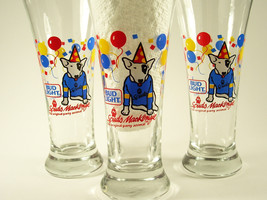 Bud Light Spuds MacKenzie Party Animal Pilsner Beer Glass Budweiser 1987 - $7.99