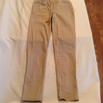 Justice pants Size 10 khaki uniform simply low super skinny waistband Girls - $14.59