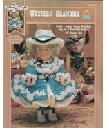 "Lot of 2 Crochet Pattern Leaflets-Western Grandma & Grandpa Outfits-Fits 13"" Dol - $8.56"