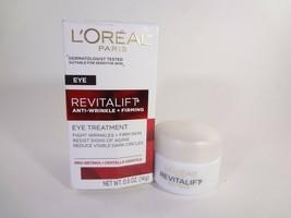 L'Oreal Eye Revitalift Anti-Wrinkle + Firming Eye Treatment 0.5oz [HB-L] - $14.03