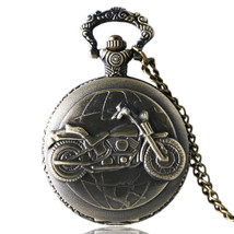 Bronze Tone Motorcycle Pocket Watch, Pocket Watches for Men, Pocket Watch - $18.76