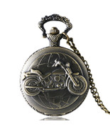 Bronze Tone Motorcycle Pocket Watch, Pocket Watches for Men, Pocket Watch - $14.80