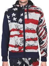 Men's US American Flag Athletic Zip Up Hoodie Jacket Jogger Pants Tracksuit Set image 2