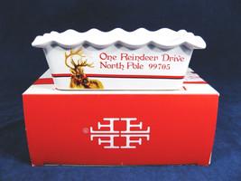 Fitz & Floyd Handpainted Mini Loaf Pan Christmas Memories Letters to Santa  - $24.05