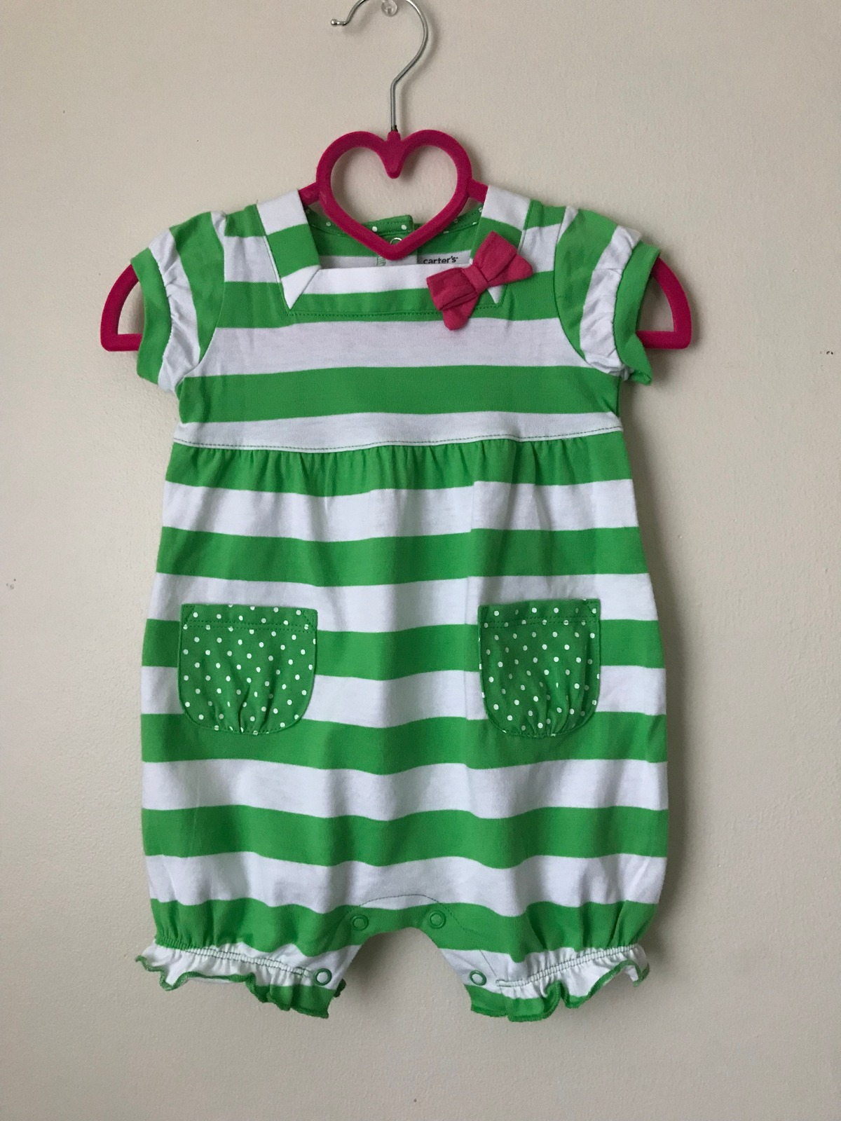 e5d70a7ea Img 8103. Img 8103. Previous. Carters Baby Girl Clothes 6 Months Summer  Romper Sunsuit Green White