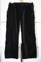 OLD NAVY Black Velvet Pants Girls Size 6 EUC 100% cotton - $5.93