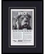 1960 BOAC British Airways / Africa Framed 11x14 ORIGINAL Vintage Adverti... - $41.71