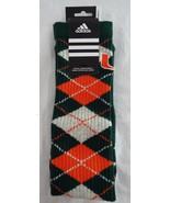 Adidas University of Miami Hurricanes Womens Knee High Sport Socks Argyle - $14.84
