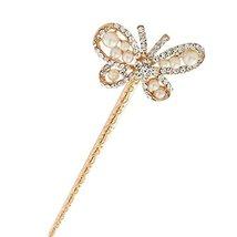 Elegant Rhinestone Butterfly Retro Women Girls Hair Pin Hair Stick Clear - $15.23