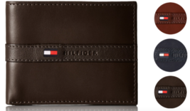 Tommy Hilfiger Men's Premium Leather Credit Card ID Wallet Billfold 31TL22X062 image 1