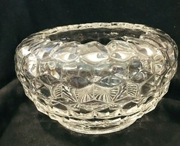 "Fostoria American Cupped Bowl 7"" x 4 1/2"" In Great Shape Large Rose Bowl Vase - $34.65"