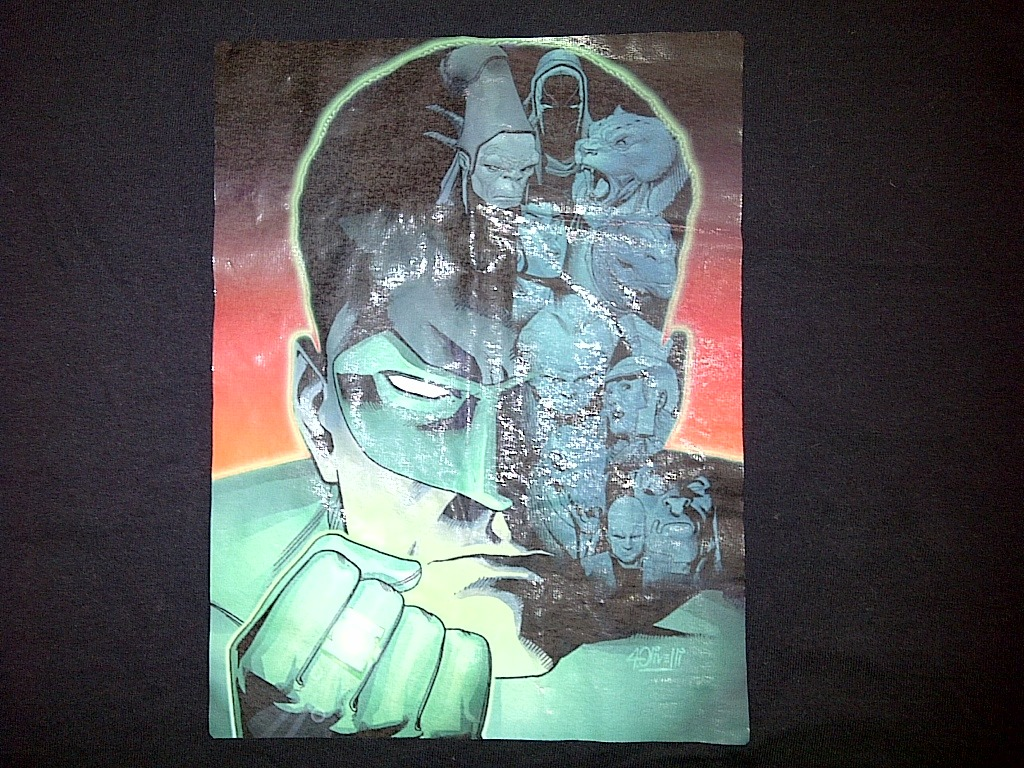 Fruit of the Loom Green Lantern Urban Black RARE Tee T-Shirt Extra Large XL