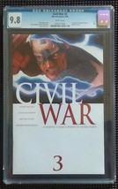 IRON MAN VS CAPTAIN AMERICA CIVIL WAR #3 CGC 9.8 THOR RETURNS - $127.00