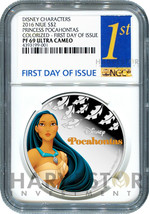 2016 SILVER DISNEY FROZEN SERIES NGC PF69 FIRST DAY OF ISSUE ANNA W//OGP