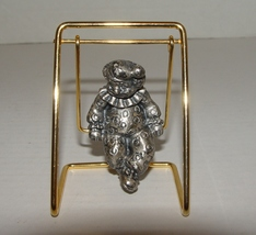 Pewter Clown in a Swing for Clown Collectos - $4.29