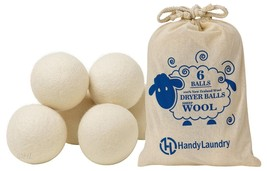 Wool Dryer Balls - Natural Fabric Softener, Reusable, Reduces Clothing W... - $9.91