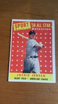 1958 TOPPS #489 JACKIE JENSEN RED SOX All Star   - $5.94
