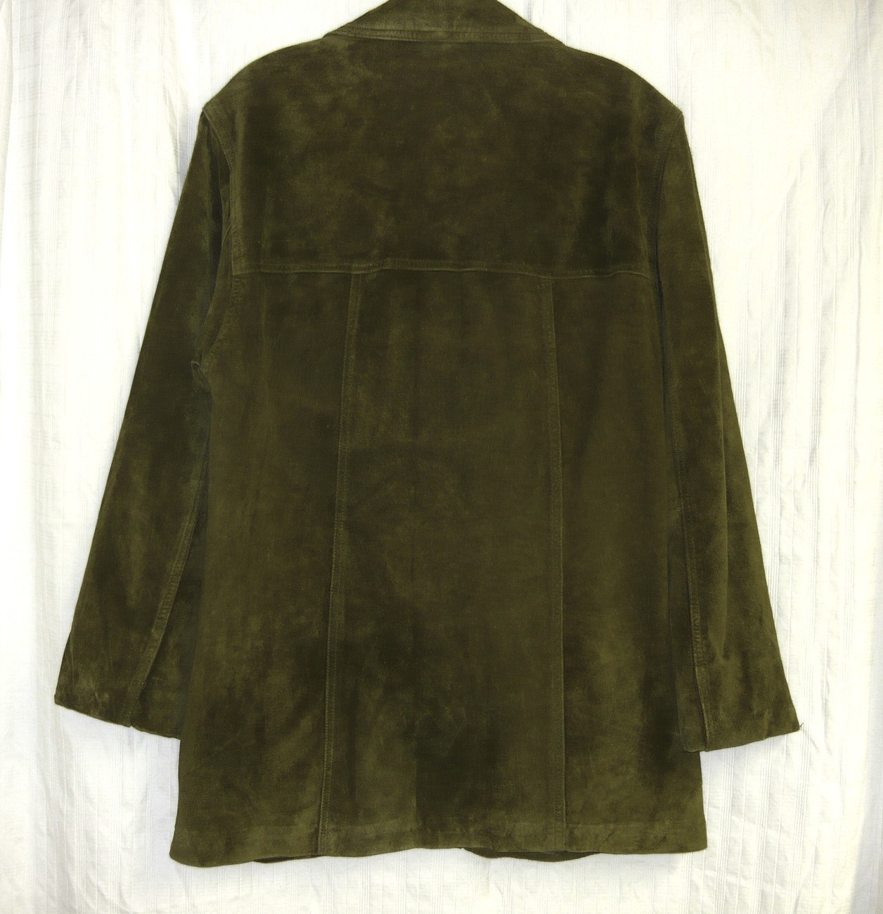 St. John's Bay Suede Olive Green Jacket-M  For the Tough Woman with Style