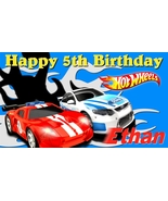 Hotwheels Cars Personalized Custom Birthday Banner Party Decoration - $34.95