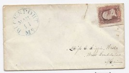 c1862 Bucksport ME Vintage Post Office Postal Cover - $9.95